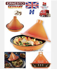 ERNESTO® Tagine Traditional Moroccan Cookware  Made From Glazed Stoneware 25cm