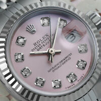 Rolex Ladies 26mm Datejust Pink Diamond Accent Dial Stainless Steel Watch