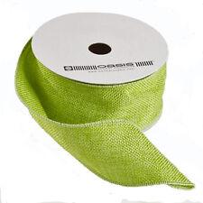 Hessian burlap jute Ribbon Lime Green 2 inch wide x 10yd full roll