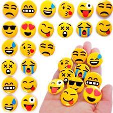 German Trendseller® - 6 x Emoji Buttons zum Anstecken | Party Emoticons | Pins |