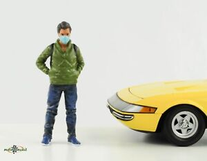 Figurine Man With Mask Dangerous Goods 1:18 American Diorama V
