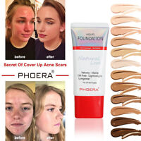 PHOERA Soft Tube Silky Matte Liquid Foundation Scars Marks Acne Cover Concealer