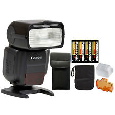 Canon Speedlite 430EX III-RT Flash for Canon EOS Rebel DSLR Cameras + Batteries