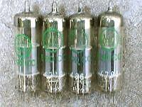 Matched quad E90CC /5920 / CV5214 / ECC960 GERMANY TUBES