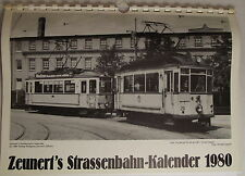 De Zeunert Calendario de tranvía 1980