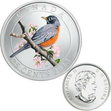 2013 CANADA 25-CENTS COLORED COIN - AMERICAN ROBIN - LIMITED MINTAGE - SELL-OUT