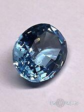 Aquamarine Aqua Blue #M111. Oval 10x8mm. 2.75 Ct. Monosital created gemstone. @