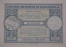 ICELAND  COUPON RESPONSE UNUSED 1948 AKUREYRI