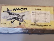 "Vintage Eagle Model WACO Airplane Kit Balsa ""35 Wingspan Control Line Plane"