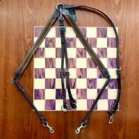 vidaXL Elastic Breastplate w// Martingale Leather Pony Collar 2 Colors 3 Sizes✓