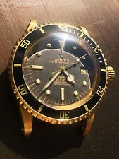Rolex Submariner 1680 Factory Gilt Black Nipple Dial 18k Solid Yellow Gold 1978