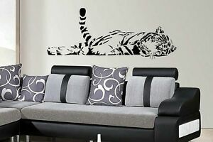 Sleeping tiger animal wall art sticker Home Lounge Bedroom Living Room Diy