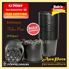 100mm TEKU Plastic Squat Pots Round x 200pcs Black VCG