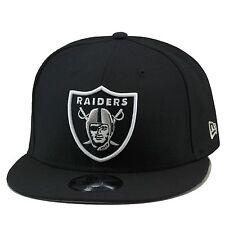 New Era Oakland Raiders Snapback Hat Cap All Black/Regular/Grey Bottom