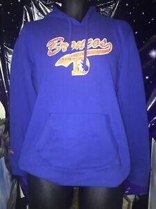 New Denver Broncos Mitchell & Ness NFL Hoodie Sweatshirt Blue Sz L
