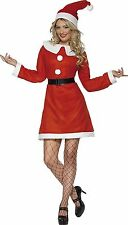 Smiffy's Miss Santa Costume Father Christmas Fancy Dress Outfit - Small