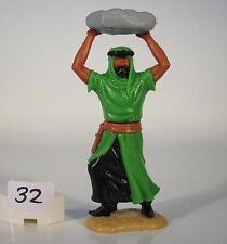 Timpo Toys Araber grün/schwarz mit Stein werfend Version 2