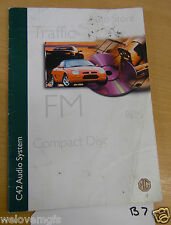 MGF Auto Store Traffic FM RDS Compact disc Book as Pictured  C42  (B7)