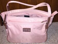 Agnes b Voyage Nylon Travel Bag Pink Lots Of Compartments