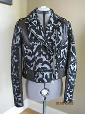 NWT Diane Von Furstenberg Leo Theodora Leather Leopard Jacket  Size 8