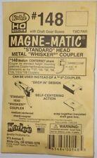 Kadee #148 HO Scale Whisker Metal Couplers - Medium Centerset 2 Pair