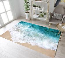 Sand Beach Scene Sea Waves Area Rugs Kids Bedroom Carpet Living Room Floor Mat