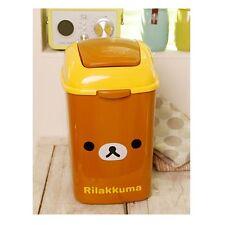 """San-X Rilakkuma Face Swing Trash Can / Bin (4L) : 10"""""""
