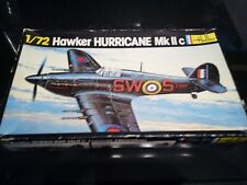 Classic Heller 1/72nd scale Hawker Hurricane MkIIc model kit.