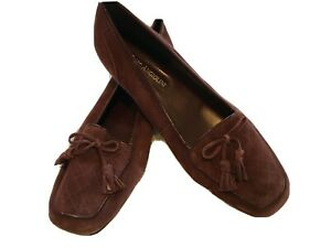 Enzo Angiolini Women's Burgundy Suede Shoes, Flats, Size 8N