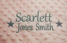 Personalised dimple Baby comforter Embroidered Boy Girl Baby Birth Gift star
