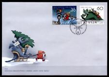Weihnachten. Weihnachtsmann, Rentier, Drachen. FDC. Lettland 2011