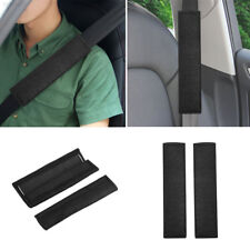 2ADA 2Pcs Car Soft Seat Belt Shoulder Pads Safety Covers Padded Cushion Black