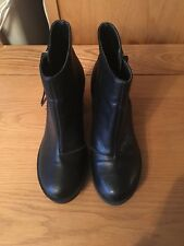 New Look Black Platform High Heel Ankle Boots Sz 4