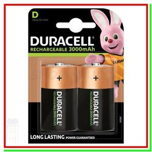 batterie ricaricabili torcioni DURACELL D torcia 3000mAh Ni-MH torcione x2