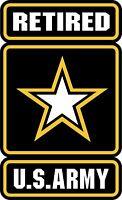 U.S. Army Retired Logo Military Soldier Bumper Sticker Vinyl Decal