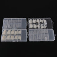 Natural white French Acrylic False Fake Nail Art Fingernail Full Tips Box  np