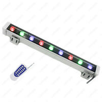 Outdoor LED RGB Wall Wash Light Strip Flood Washer Lamp Remote Control Garden