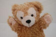 "Duffy Teddy Bear Puppet Hidden Mickey Brown Tan Cream Disney Parks Plush 10"" Toy"