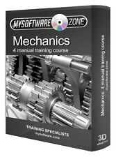 Learn Mechanics 4 Manual Training Course on CD Car Engine Hydraulics Power Gears