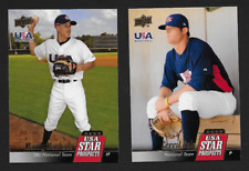 2009 Upper Deck Manny Machado USA-10 & Gerrit Cole USA-25 RC