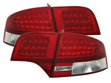 RED CLEAR finish LED taillights rear lights for AUDI A4 B7 sedan saloon  04-07