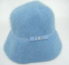Gap Womens Bucket Hat Light Blue w Rhinestone Small Medium Rabbit Fur Blend