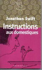INSTRUCTIONS AUX DOMESTIQUES  JONATHAN SWIFT