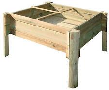 Orto pensile in legno per balcone terrazzo cm 74x74x50 h serra giardino