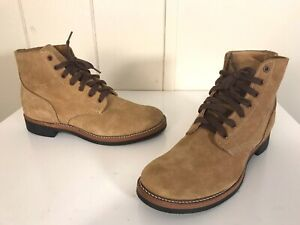 NEW Tan Brown Suede Leather Boondocker Military Vintage Boots 10.5 RRL Red Wing