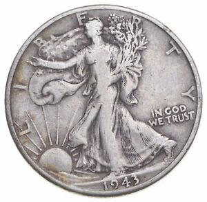 1943-D Walking Liberty 90% Silver US Half Dollar *716