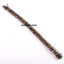 925 Sterling Silver Rose cut Diamond Multi Tourmaline Bracelet Victorian B-605