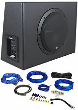"Rockford Fosgate P300-10 10"" 300w Sealed Powered Subwoofer/Sub Enclosure+Amp Kit"