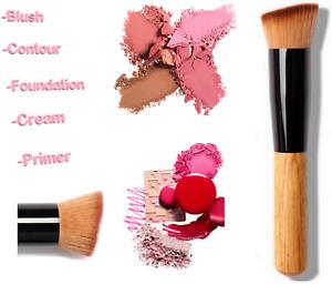 Foundation Brush Angled Top Kabuki Liquid Powder Blusher Buffing Make Up Brush