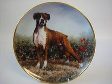 DANBURY MINT THE BOXER DOG STANDING PROUD PLATE